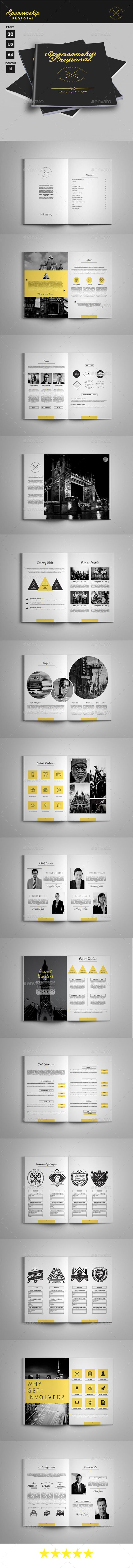 Sponsorship Proposal Template #design Download: http://graphicriver.net/item/sponsorship-proposal/12838670?ref=ksioks