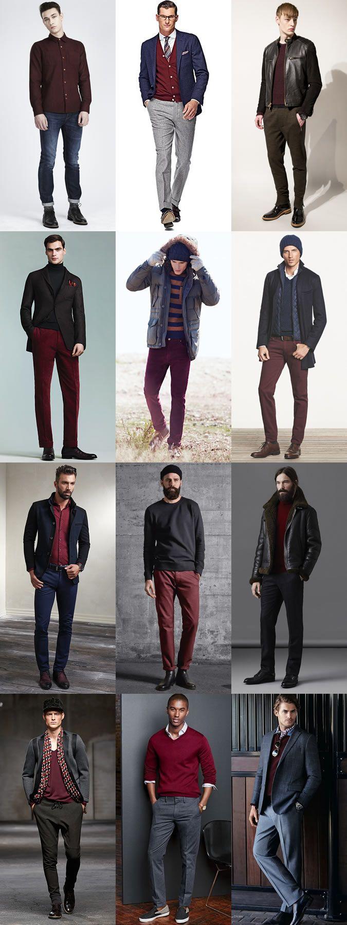 Burgundy Velvet Jumper Mens - Sweater Jeans And Boots