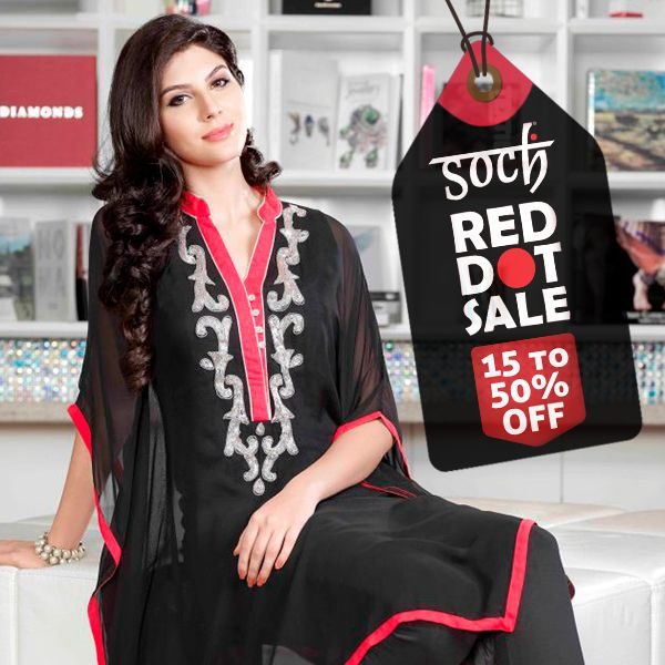 While you shop, the world gets better! Doesn't it?  Give your wardrobe an irresistible fix with the Soch Red Dot Sale.  Hurry up and lay your hands on a series of ethnic wear outfits!   Click here to locate one close to you: http://www.sochstudio.co.in/store-locator.html)
