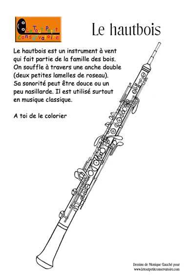dessin de hautbois