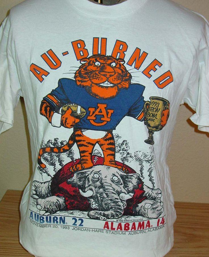 Vintage 1993 Auburn Tigers vs Alabama Iron Bowl t shirt Large by vintagerhino247…