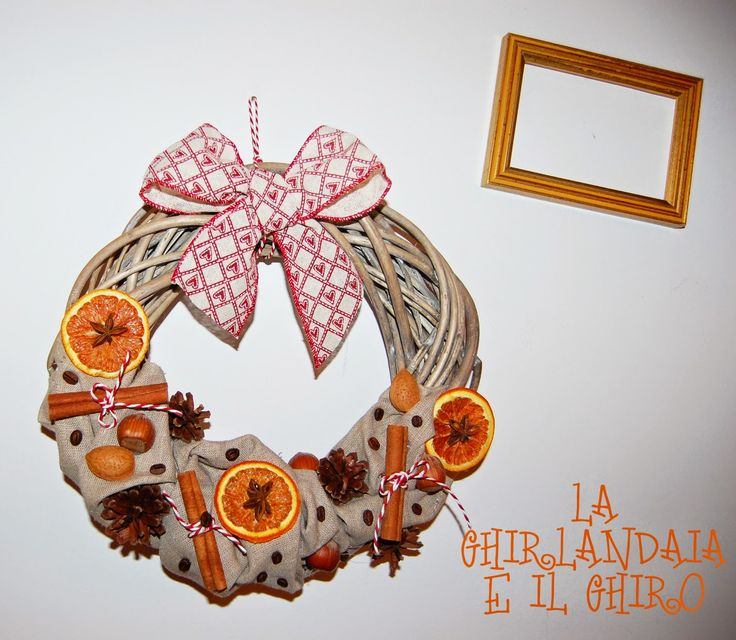 Cinnamon and orange wreath