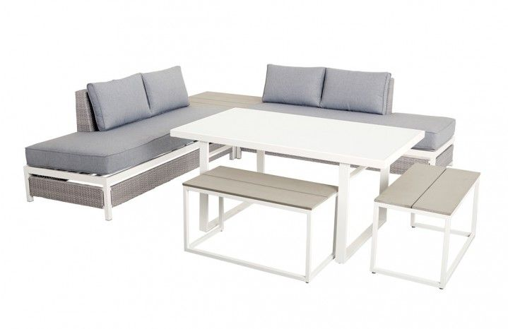 Nautilus 6 Piece Multi Use Low Dining Setting NAU6PLOWG 1