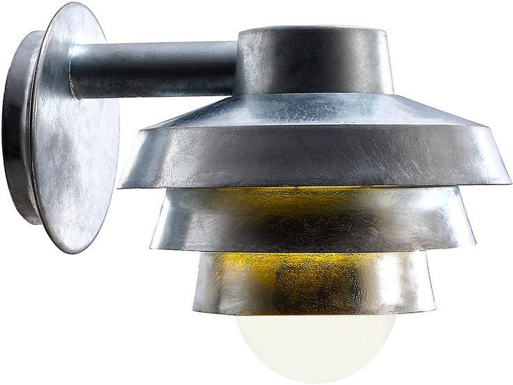 REA! Nordlux Elements 22 Vägglampa Nedåt Galvaniserat stål 60W E27 IP44 - HemOchBastu.se