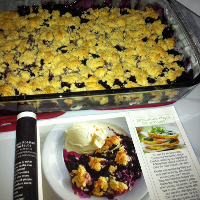 Blueberry drop biscuit cobbler - from this month's Bon Appetit ...