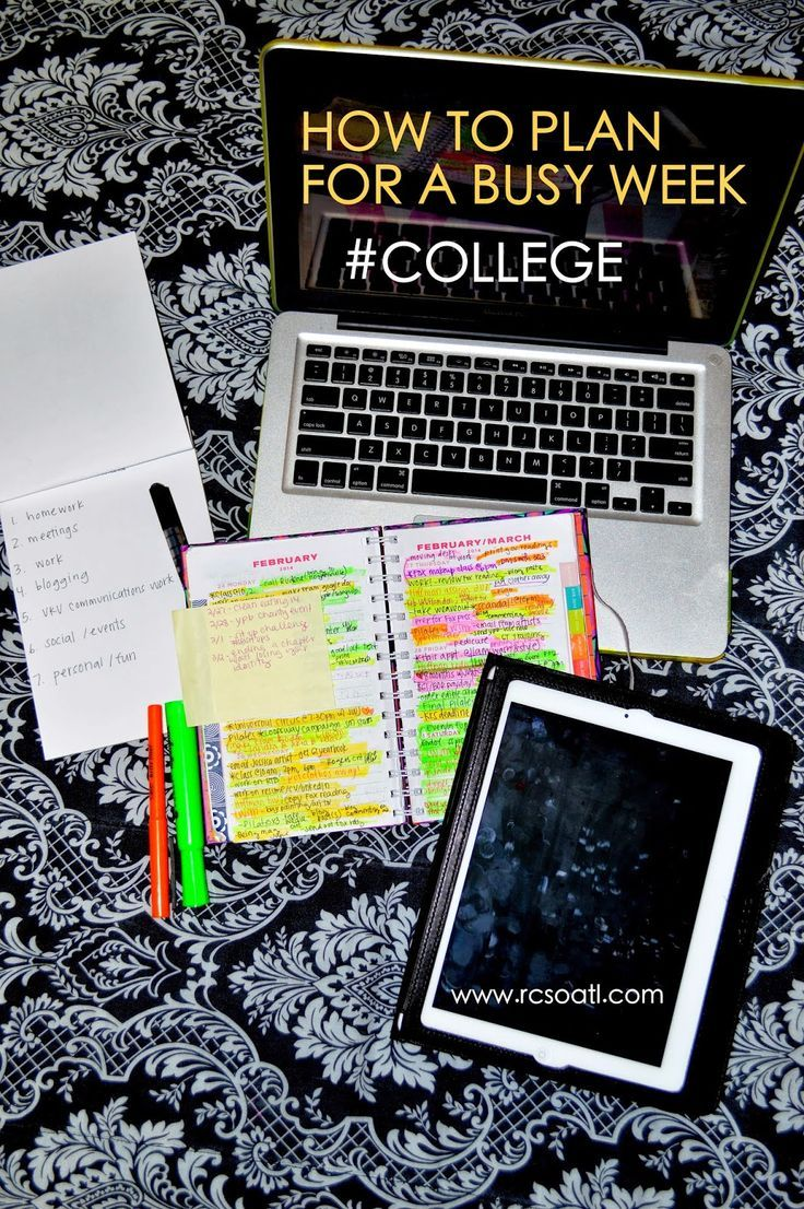 Real college student of atlanta how to plan for a busy week college students these are all really good tips college student resources college tips