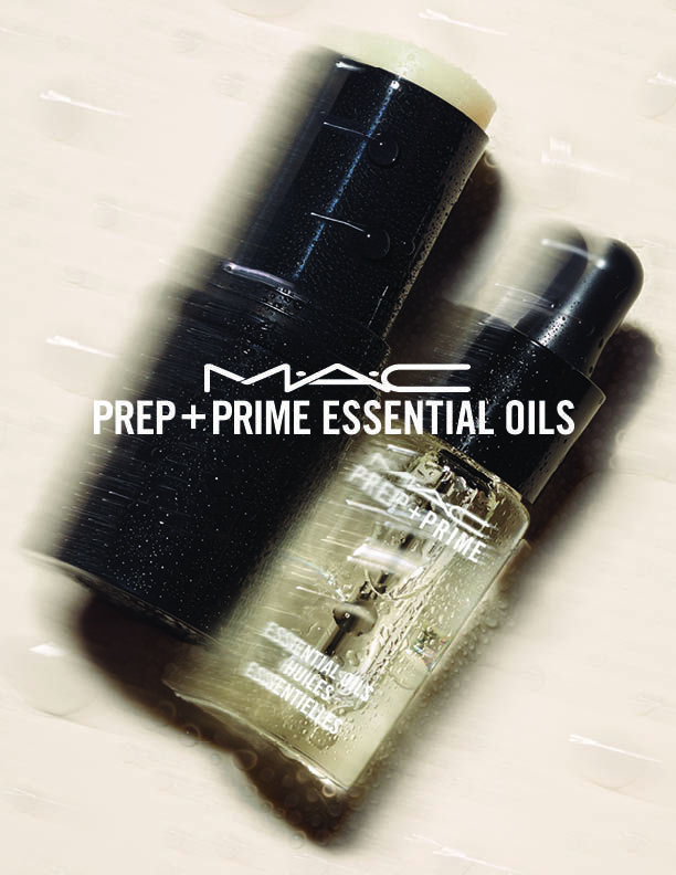 NEW M∙A∙C Prep + Prime Essential Oils -  available now at Travel Retail locations worldwide