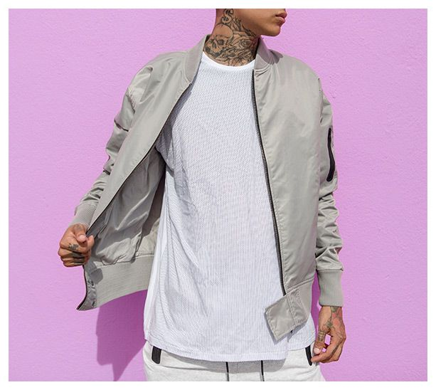 THE ULTIMATE FLIGHT BOMBER.   An old favourite brought back to life with newness. Features include heat sealed zip pockets, ribbed cuffs and a regular fit.  https://zanerobe.com/product/flight-bomber-ice-grey/  #zanerobe #znrb #system