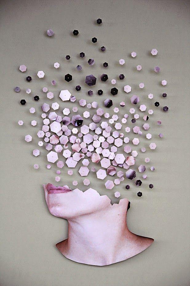 """Frammentazioni"" by Micaela Lattanzio | http://ineedaguide.blogspot.com/2015/05/micaela-lattanzio.html | #art #sculpture #mosaics"