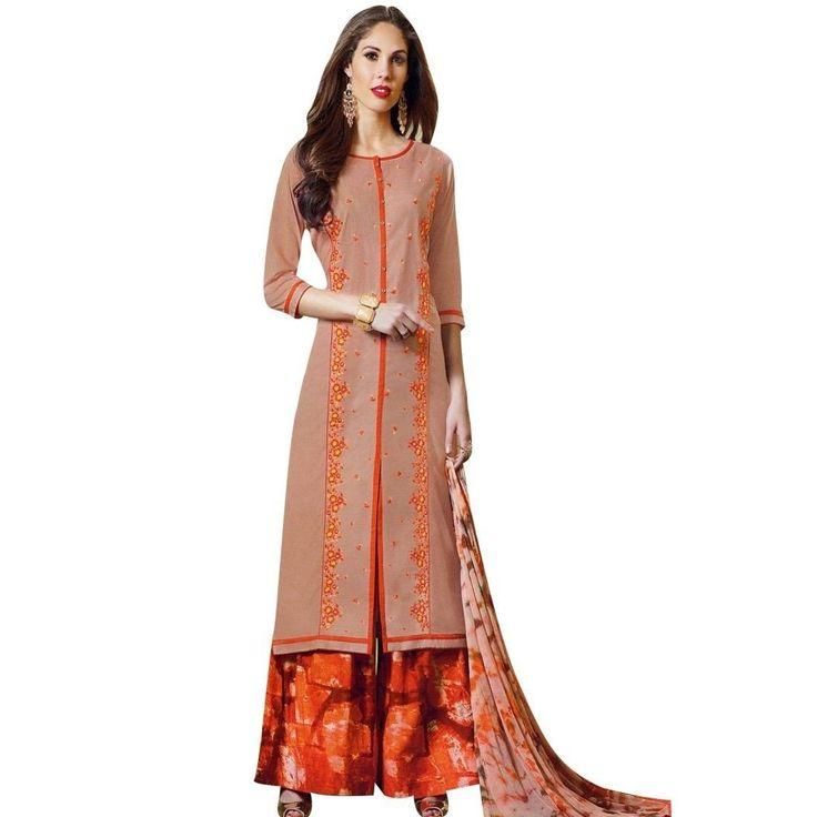 Readymade Stitched Palazzo Printed Pants Cotton Salwar Kameez  #Designer #SalwarSuit #ShopNow #LowestPrice #FreeShipping #NewStuff #SalwarKameez #DressMaterial