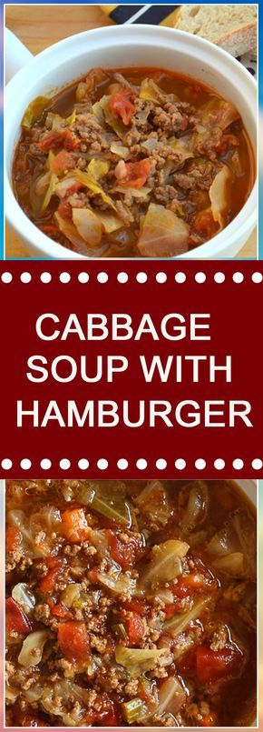 CABBAGE SOUP WITH HAMBURGER #sundaysupper #dinnerrecipes #dinner #souprecipes #dinnertime #easydinner