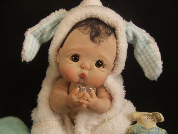 Baby Tutorial instructies op hoe te om volledige beeldhouwen OOAK polymeer klei baby kunst poppen door Rasbubby Hill