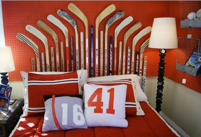 Kids Room: Nice Kids Room With Hockey Concept Ideas: Unique Thematic Kids Room Ideas
