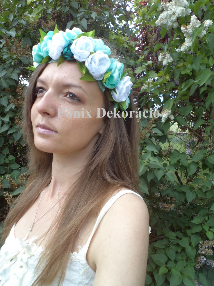 Head wreath, flower wreath from satin :)