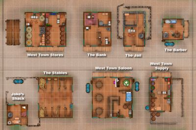 Old West Town Layout