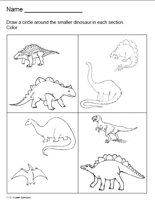 fall activity sheets for preschoolers | Learn Curriculum: Dinosaur Worksheets :)