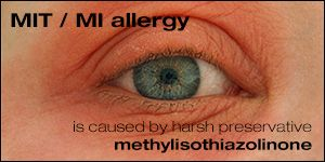 list of products containing MI / MIT / methylisothiazolinone