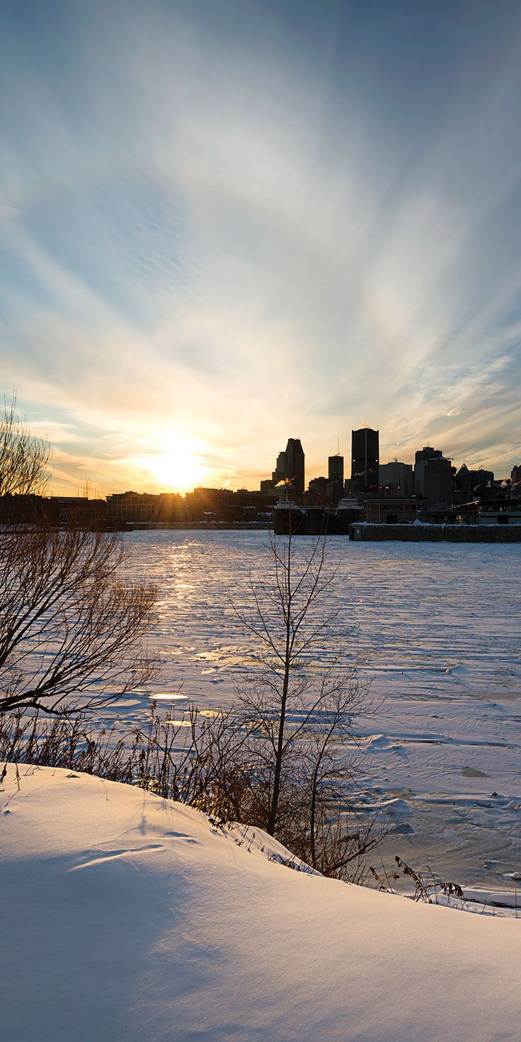 Winter sunsets in Montreal, Quebec - by Lauren Bath