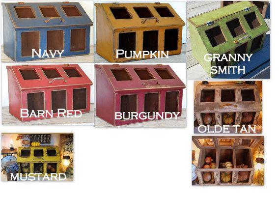 Countertop Vegetable Storage : ... Bins Cupboards, Bins Potatoes, Beans Vegetables, Beans Bins, Kitchens