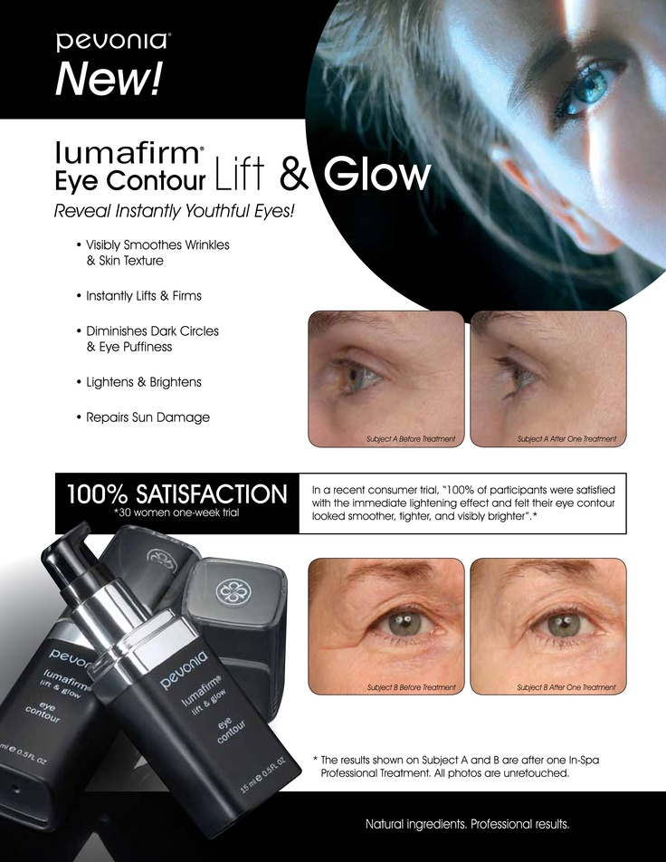 New! Pevonia Lumafirm Eye Contour Lift and Glow!