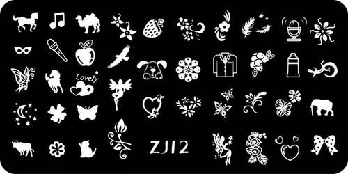 Nails - NAIL ART IMAGE STAMPING PLATE (ZJ-SERIES) for sale in Virginia (ID:218758142)