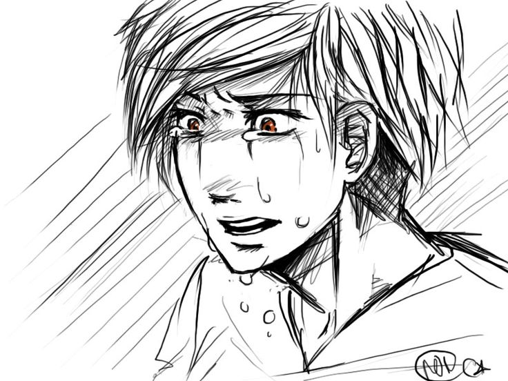 Anime Boy Crying Drawing Widescreen 2 HD Wallpapers
