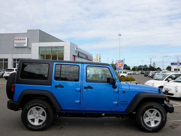 2015 Jeep Wrangler Unlimited Sport Blue Colors