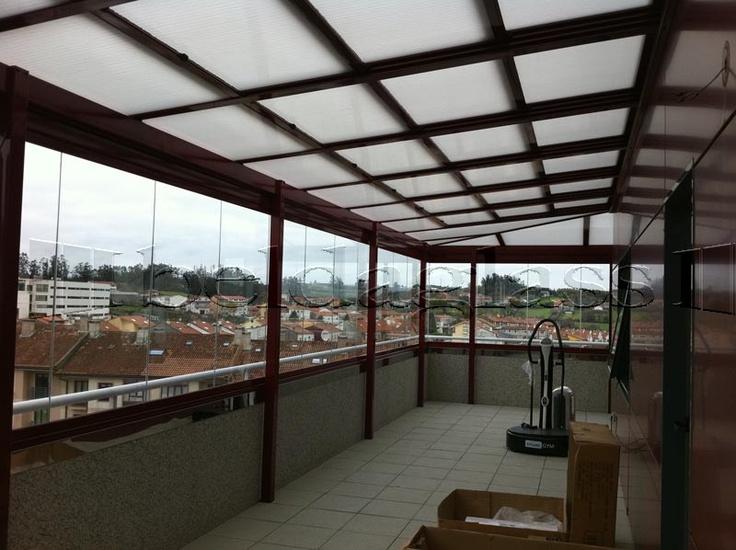 Techo movil deslizante corredero para terraza acristalada - Pergolas para terrazas ...