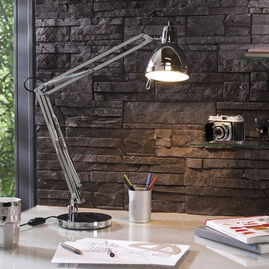 Lampe de bureau, chromé, Cynthia