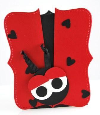 Ladybug Box using Big Shot Top Note die