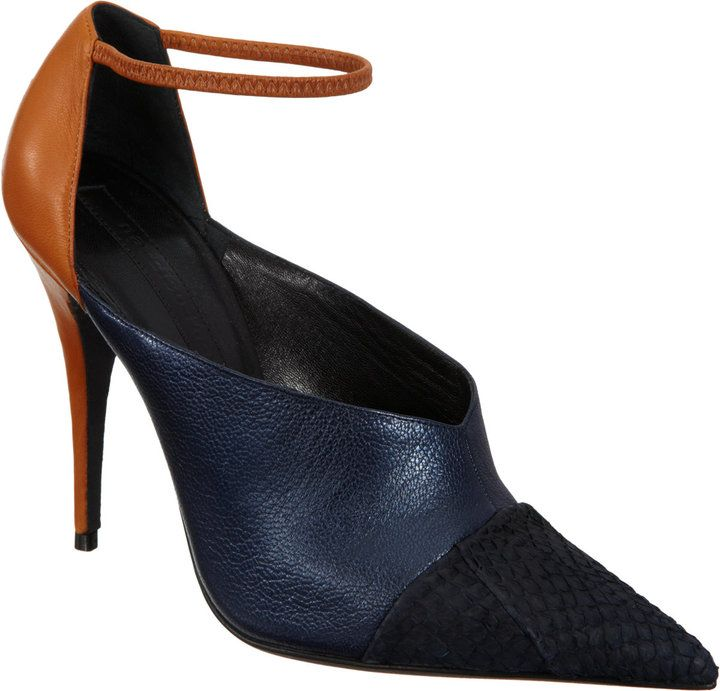 Narciso Rodriguez High-Cut Ankle Strap Pump on shopstyle.com