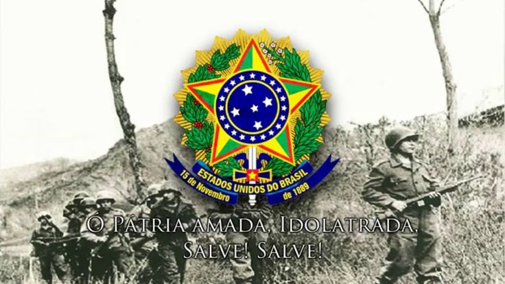 National Anthem of Brasil during WWII Bombings in Italy (1944) - Força E...