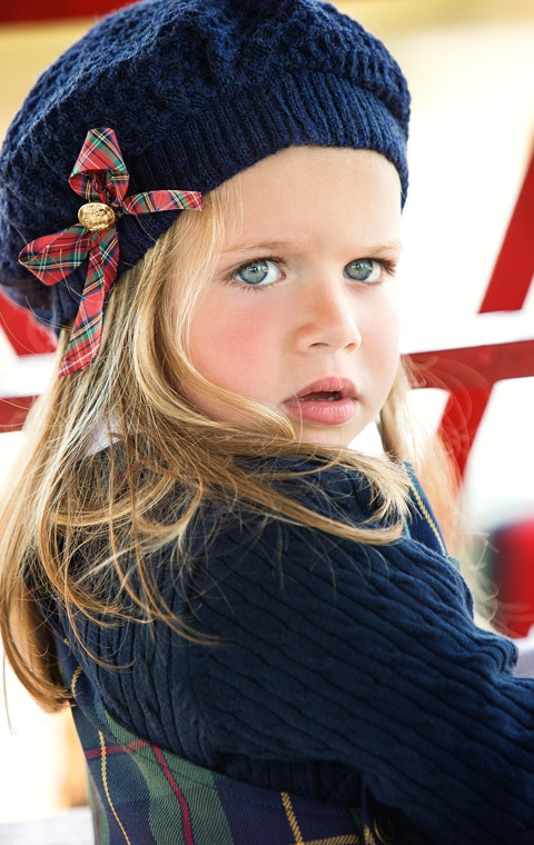 Scottish Lass - Knits and tartans Yes, I can totally imagine my child looking this magnificent.  Keep that trust fund flush I am going to be one expensive grandchild!