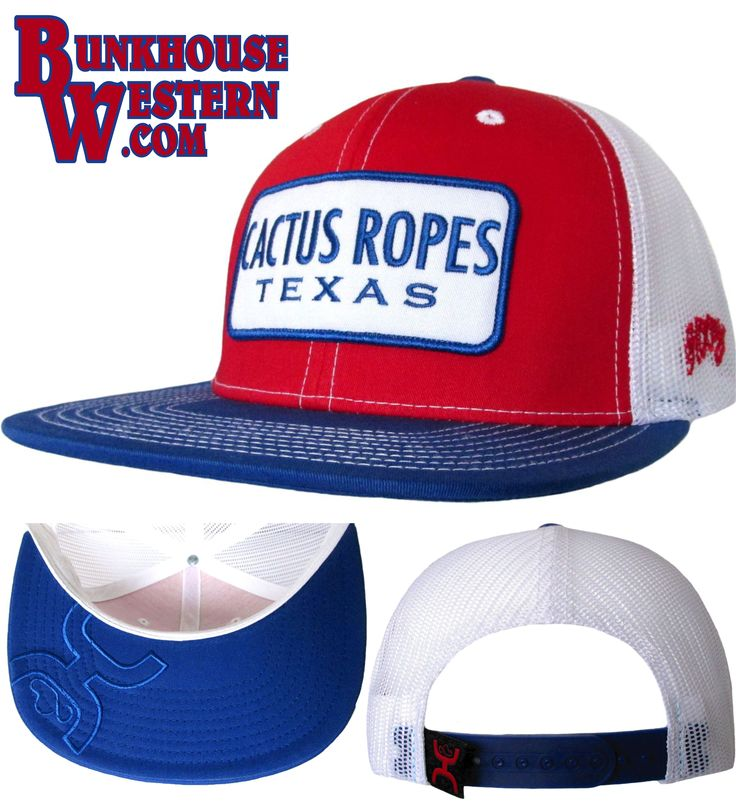 #GetYourHOOey, @cactusropes, Texas, Rodeo, Cowboy, Roping, Hooey Hat, Red White & Blue Flatbill Cap, $29.98, http://bunkhousewestern.com/cr13