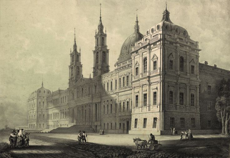 João MacPhail (morto em 1856)   Litografia do Palácio Nacional de Mafra, Portugal.
