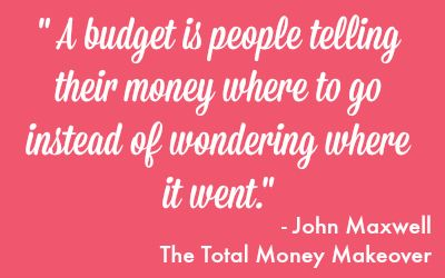 A quote from Dave Ramsey's Total Money Makeover Book!