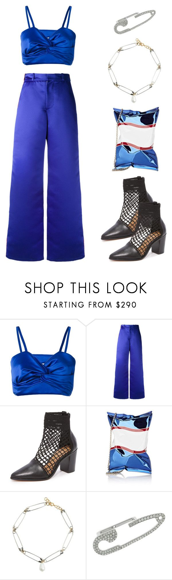 """""""Punky"""" by sewsavy ❤ liked on Polyvore featuring Sadie Williams, Schutz, Anya Hindmarch and Runa"""