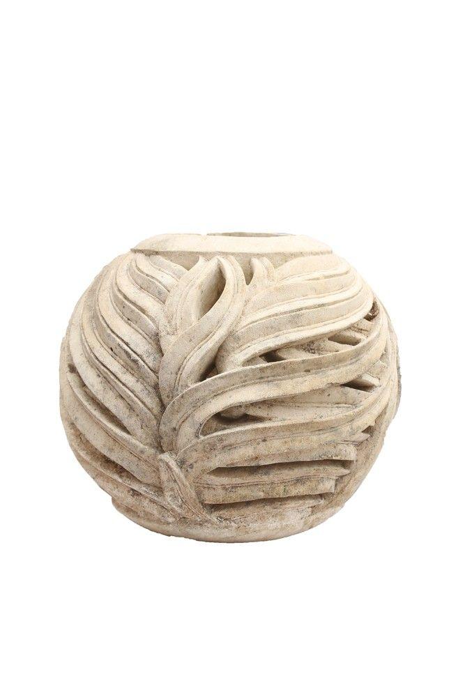 Komodo Limestome Round Decorative Ball (OSTO 12)