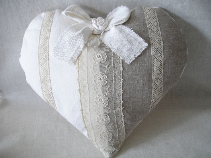 Coeur 2 LIN, ancienne dentelle et plâtre fleur (6)