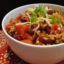 Жгучая смесь индюшатины, помидоров, фасоли, и, конечно же, перца чили #рецепты