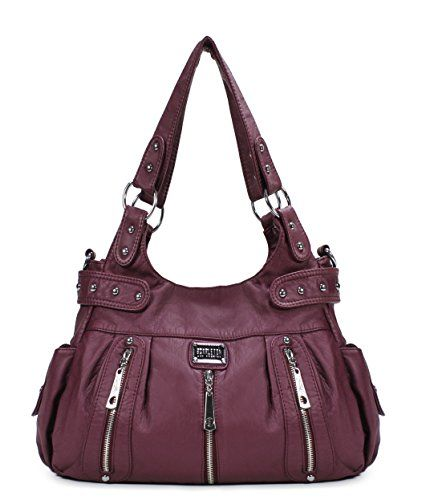 New Trending Shoulder Bags: Scarleton 3 Front Zipper Washed Shoulder Bag H129216 - Purple. Scarleton 3 Front Zipper Washed Shoulder Bag H129216 – Purple  Special Offer: $25.99  455 Reviews The Scarleton 3 Front Zipper Washed Shoulder Bag is a large stylish purse at a great price. This chic design has plenty of organized storage, enough room for your cell phone, wallet...