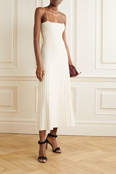 Parisian Dress Sz L Sleeveless juli French Midi White Spring Summer Retro NEW