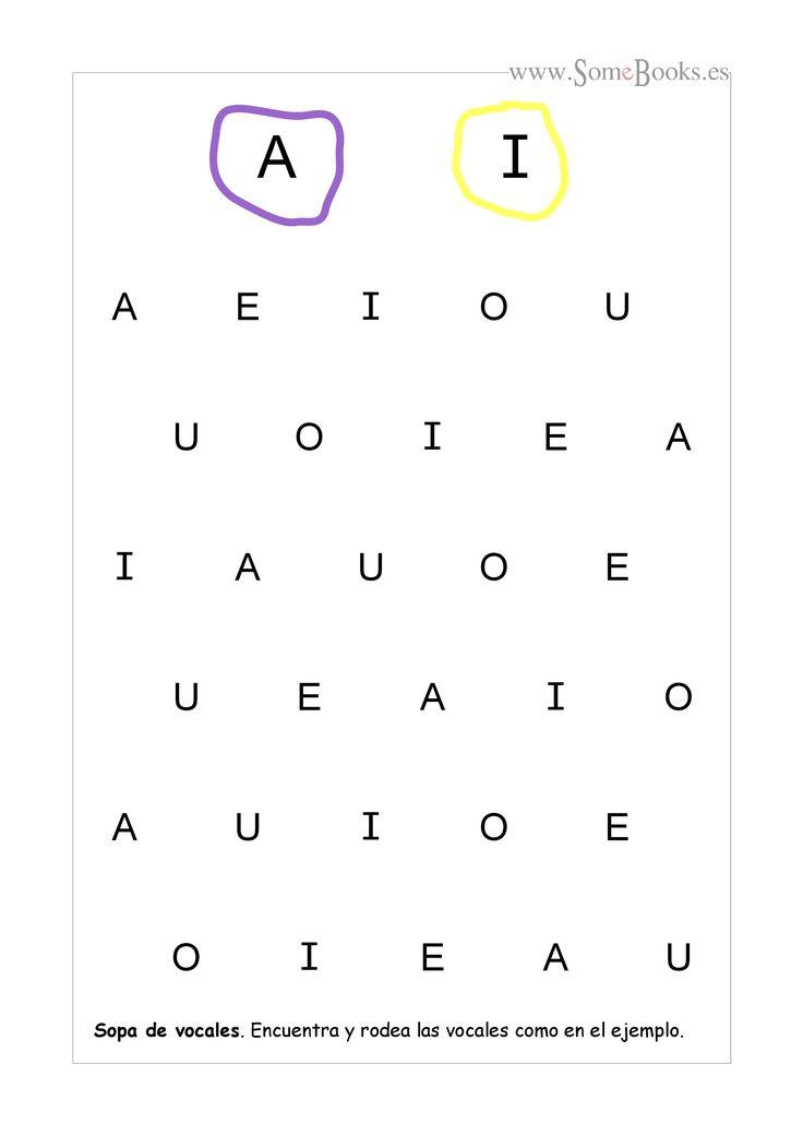 En estas fichas se ofrecen un par de vocales en mayúscula como modelo, que los niños tendrán que localizar y rodear, con el color adecuado, en la sopa de letras que hay debajo. Si quieres descargar…