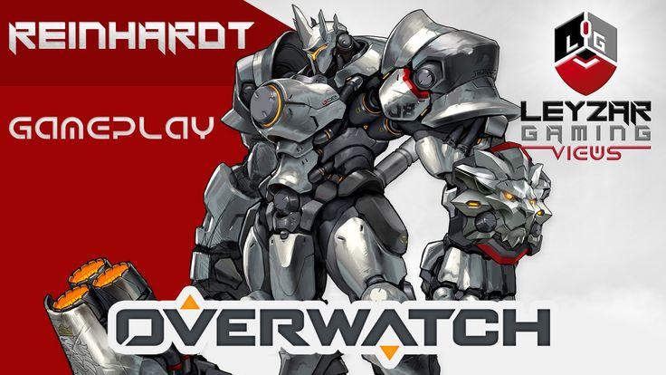 Overwatch Gameplay - Reinhardt Tank Role (Closed Beta Reinhardt Gameplay)