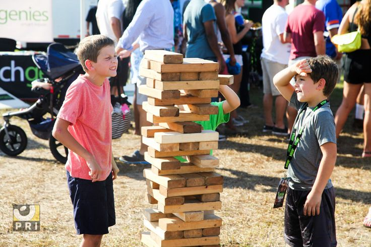 Jenga on its normal size is already fun, imagine oversized? That's some real fun! Pic taken at the Jaxtober Fest 2015.