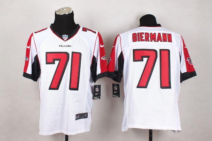Atlanta Falcons Elite #71 Kroy Biermann White Men Jersey