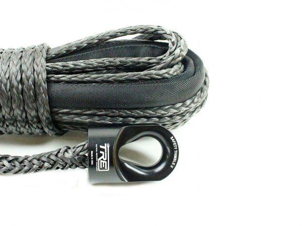 3 8 Black Winch Rope 20 000 Lb Breaking Strength Synthetic Winch Rope Winch Rope Synthetic Winch Rope Winch
