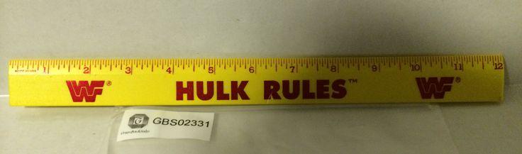 (TAS030710) - WWF WCW Wrestling LJN nWo Ruler - Hulk Rules