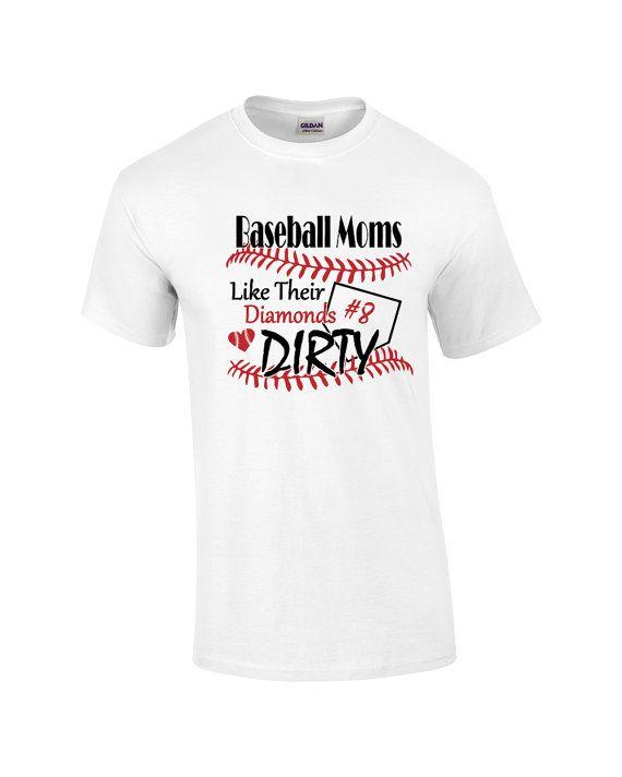 Baseball Mom Shirt.  Baseball moms like their by PinkPigPrinting