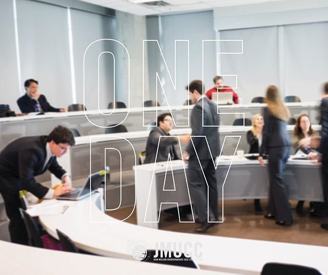 1 day. 24 hours. That's all what's left until the 9th edition of the John Molson Undergraduate Case Competition begins!  #JMUCC17 #ItsHere #BetterBeReady #WeMeanBusiness  by jmuccofficial
